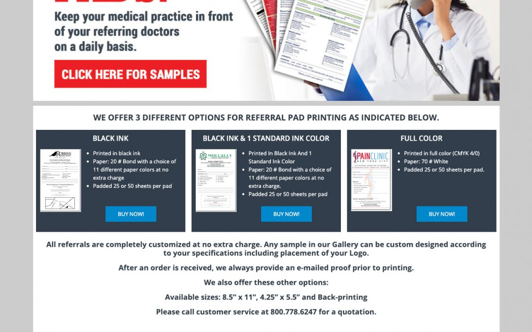 Medical Referral Pads